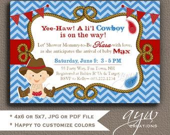 cowboy baby shower invitation boy invitation cowboy shower invitations printable invitation boy baby shower invitations cowboy