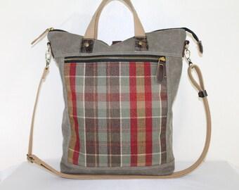 Convertible 3 in 1 BAg Men Women Bag Leather Detail