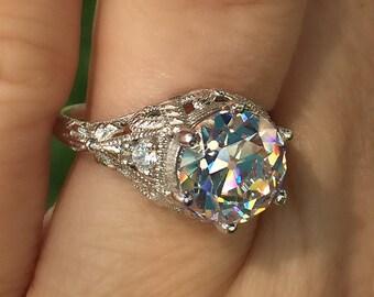 Antique Engagement RIng.-  Art Nouveau Ring