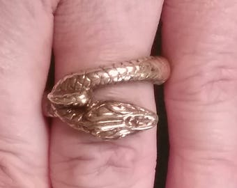 Art Nouveau Period Statement Ring - Vintage Snake Ring - Vintage Art Deco Ring
