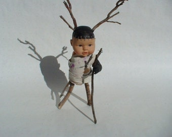 "Antler Baby - Film Prop in Rebel Mouse Film Production ""The Crying Baby Mystery"""