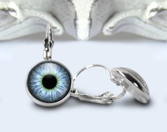 Eye Earrings, Dragon's Eye Earrings, Leverback, Gift For Her