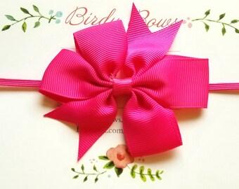 Hot Pink Baby Bow Headband, Baby Headbands, Infant Headbands, Baby Girl Headbands, Infant Bow, Baby Bow, Girl Bow,Girl Headbands