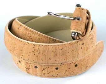 Vegan belt, cork vegan belt, natural cork belt, peta approved vegan belt, eco friendly belt, vegan belt men, unisex vegan belt