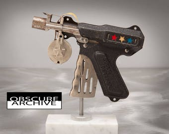 Vintage 1930's SUPER DEFENSE Nu-Matic Blaster Cap Gun - LMCO - Beautiful Example of this Rare Police Ray Gun Toy