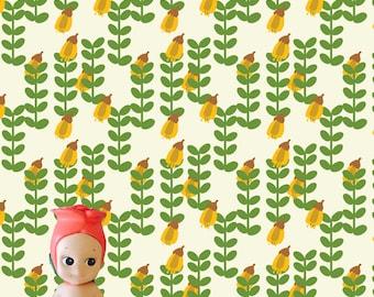 Retro Kowhai Dollhouse Wallpaper Download