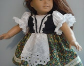18 Inch doll Ethnic, European type outfit or dress  by Project Funway on Etsy