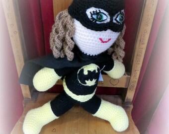 Batgirl - Crocheted Superhero Doll