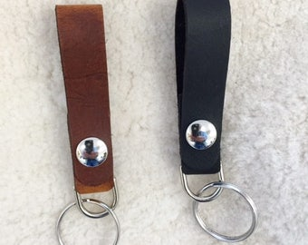 handmade leather key holder, key leash, key strap,  for belt, purse handle, or ....