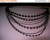 SALE 60% Off Long beaded chain, multistrand chain, 30 inch necklace, hippie boho