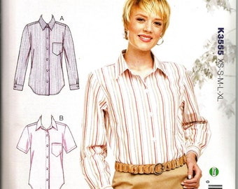 Kwik Sew 3555 size XS, S, M, L, XL new and uncut womans tailored blouse