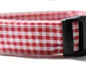 Red Gingham Martingale Set