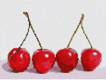 Needlepoint Kit or Canvas: Cherries