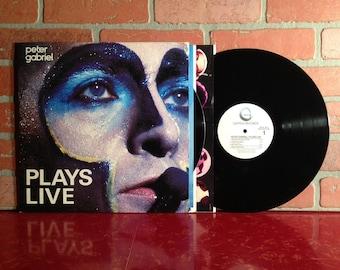PETER GABRIEL Plays Live Vinyl Record Album Double LP 1983 Genesis Phil Collins New Wave Progressive Rock Pop Music Vintage