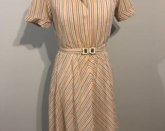 Cute 1980s striped dress