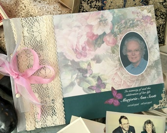Celebration of life memory book