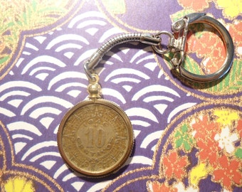 2 Vintage Mexican 10 Centavos Coin Key Ring Key Chain