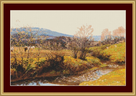A Spring Afternoon Cross Stitch Pattern /Digital PDF Files /Instant downloadable