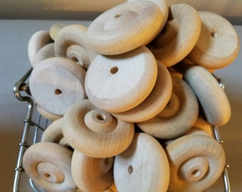 85  Wood Toy Wheels 2 inch Wheels Toy Part
