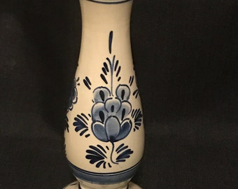 Vintage Delft Holland Hand Painted Candlestick or Vase SALE PRICE was 20.00 now 16.00