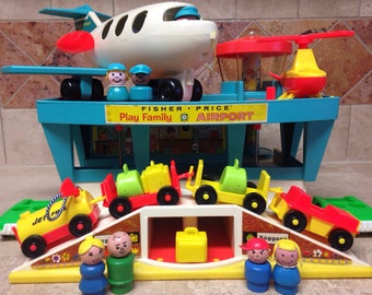 Fisher-Price Little People Play Family Airport & Box