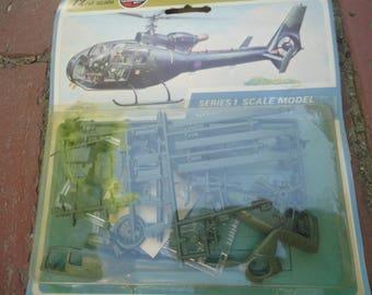 Vintage Unopened Airifx SA .341 Gazelle  Helicopter, Airfix, Helicopter Model, Helicopter, Helicopter Made in England, Westland Gazelle