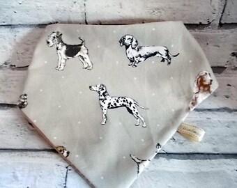 Neutral Dog Fabric Bandana, Cat neckerchief, Dog neckerchief, Dog bandana collar, Cat Bandana, Bandanas for dogs, Dog clothing
