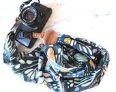 The 'Maya' Scarf Camera Strap with Quick Release Buckles -- 1.5- 2 inches wide