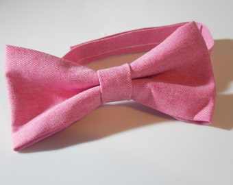 Pink Adjustable Bow Tie