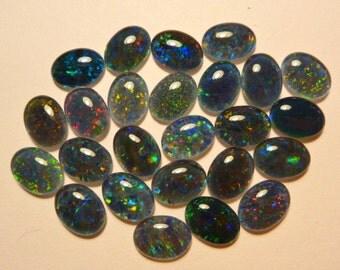 Opal Stones Natural Triplet Parcel Lot 8x6mm Oval 25 Piece's. item  110362.