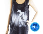 Unicorn Shirt Teen Tank Blogger Tee Funny Tees Graphic Unicorn Tank Top Horse Tank Top Vest Sleeveless Bleached Shirt Unisex Tshirt Size M