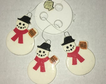 The Beachcombers Snowman Ceramic Wind Chime Vintage 1980's Christmas in July
