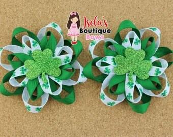 St. Patrick's day loop bows