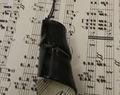 Vinyl Record Necklace - Vintage Sheet Music & Vinyl Necklace - Upcycled Vinyl Record - Upcycled Sheet Music - Black Music Pendant Necklace