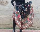vintage 70 Bohemian long flowers skirt
