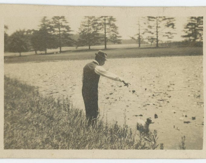 Vintage Snapshot Photo: Fetch, Early 1900s (73557)
