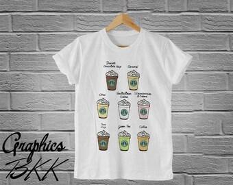 Frappuccino T-Shirt Unisex T-Shirt Frappuccino Shirt unisex tee starbucks shirt coffee shirt (S-XL)