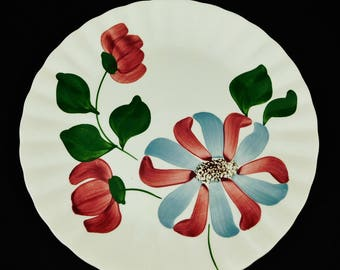 Blue Ridge Pottery, Whirligig Pattern, Dinner Plate, Marked 10 B, Southern Potteries, Inc.