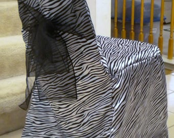 Zebra Print Chair Covers