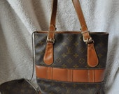Louis Vuitton French Company Bucket Purse with Coin Purse Attached