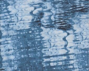 Timeless Treasures Fabric, Winter, Blue Water print