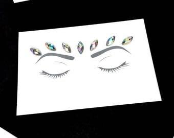 Iridescent Queen Face Gems