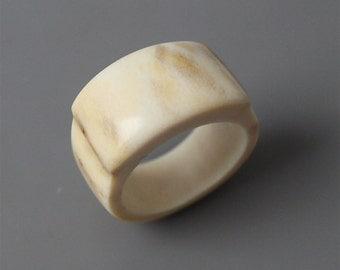 Antler ring, Size 8,5 US, Antler rings, Antler jewelry, Signet ring, Statement ring, Bone jewelry, Bone ring, Women rings, Men rings, Rings