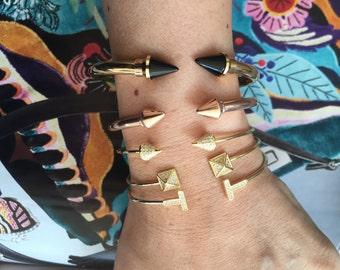 Choose a cuff arrow cuff Vita cuff, spike bracelet gold/ silver all vermeil rose gold and yellow gold