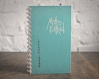 """Old Book Journal Tartuensis College """"Mind Hikes"""", Spiral Bound Notebook"""