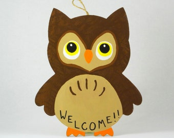 Owl Door Sign