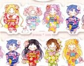 Pre-ORDER+++++ 1 Roll Limited Edition Irregular Washi Tape: Sailor Moon in Kimono