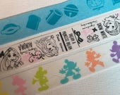 1 Roll of Japanese Anime/ Japan Disney Washi Tape (Pick 1) : Doraemon , Disney Princess, or Mickey and Minnie Mouse