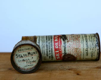 Small 'Sel de Hunt' French medicine tin