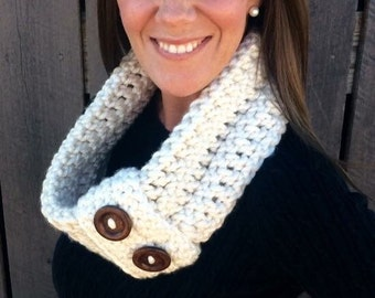Button Cuff Infinity Scarf